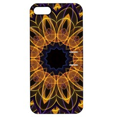Yellow Purple Lotus Mandala Apple Iphone 5 Hardshell Case With Stand
