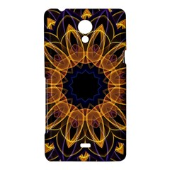 Yellow Purple Lotus Mandala Sony Xperia T Hardshell Case