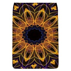 Yellow Purple Lotus Mandala Removable Flap Cover (small)
