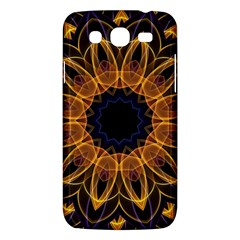 Yellow Purple Lotus Mandala Samsung Galaxy Mega 5.8 I9152 Hardshell Case