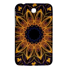 Yellow Purple Lotus Mandala Samsung Galaxy Tab 3 (7 ) P3200 Hardshell Case