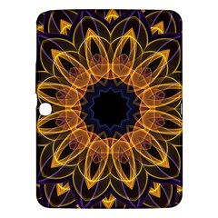 Yellow Purple Lotus Mandala Samsung Galaxy Tab 3 (10.1 ) P5200 Hardshell Case