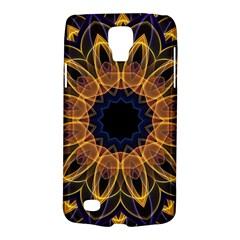 Yellow Purple Lotus Mandala Samsung Galaxy S4 Active (I9295) Hardshell Case