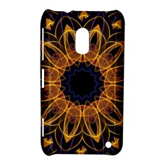 Yellow Purple Lotus Mandala Nokia Lumia 620 Hardshell Case