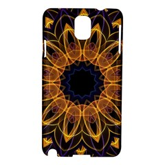 Yellow Purple Lotus Mandala Samsung Galaxy Note 3 N9005 Hardshell Case