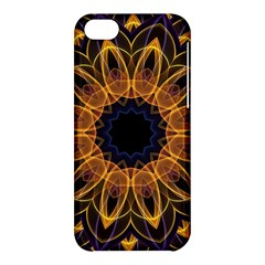 Yellow Purple Lotus Mandala Apple Iphone 5c Hardshell Case