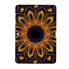 Yellow Purple Lotus Mandala Samsung Galaxy Tab 2 (10 1 ) P5100 Hardshell Case