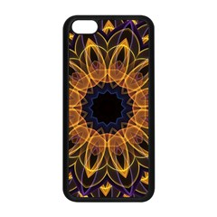Yellow Purple Lotus Mandala Apple Iphone 5c Seamless Case (black)