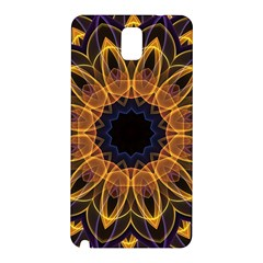 Yellow Purple Lotus Mandala Samsung Galaxy Note 3 N9005 Hardshell Back Case