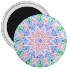 Soft Rainbow Star Mandala 3  Button Magnet