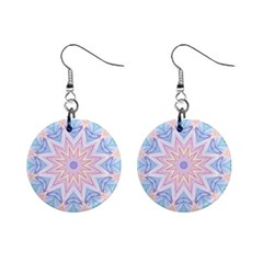 Soft Rainbow Star Mandala Mini Button Earrings