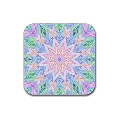 Soft Rainbow Star Mandala Drink Coasters 4 Pack (Square)