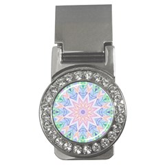 Soft Rainbow Star Mandala Money Clip (CZ)