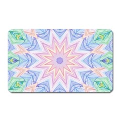 Soft Rainbow Star Mandala Magnet (Rectangular)