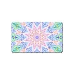 Soft Rainbow Star Mandala Magnet (name Card)