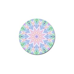 Soft Rainbow Star Mandala Golf Ball Marker