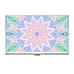 Soft Rainbow Star Mandala Business Card Holder