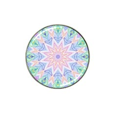 Soft Rainbow Star Mandala Golf Ball Marker (for Hat Clip)