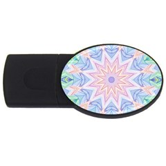 Soft Rainbow Star Mandala 4GB USB Flash Drive (Oval)
