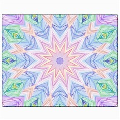 Soft Rainbow Star Mandala Canvas 8  X 10  (unframed)