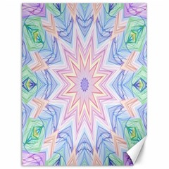 Soft Rainbow Star Mandala Canvas 12  x 16  (Unframed)