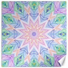 Soft Rainbow Star Mandala Canvas 16  x 16  (Unframed)