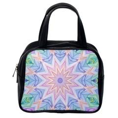 Soft Rainbow Star Mandala Classic Handbag (one Side)