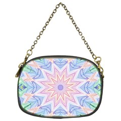 Soft Rainbow Star Mandala Chain Purse (one Side)