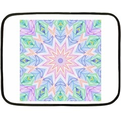 Soft Rainbow Star Mandala Mini Fleece Blanket (Two Sided)