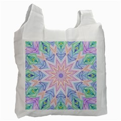 Soft Rainbow Star Mandala Recycle Bag (Two Sides)
