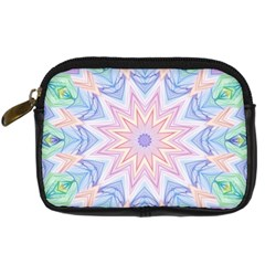 Soft Rainbow Star Mandala Digital Camera Leather Case