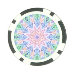 Soft Rainbow Star Mandala Poker Chip (10 Pack)