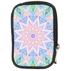 Soft Rainbow Star Mandala Compact Camera Leather Case