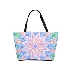 Soft Rainbow Star Mandala Large Shoulder Bag