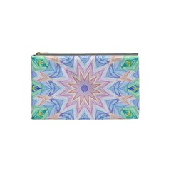 Soft Rainbow Star Mandala Cosmetic Bag (Small)
