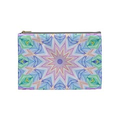 Soft Rainbow Star Mandala Cosmetic Bag (medium)