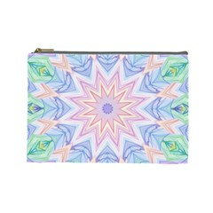 Soft Rainbow Star Mandala Cosmetic Bag (Large)