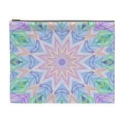 Soft Rainbow Star Mandala Cosmetic Bag (XL)