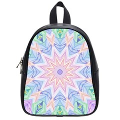 Soft Rainbow Star Mandala School Bag (small)