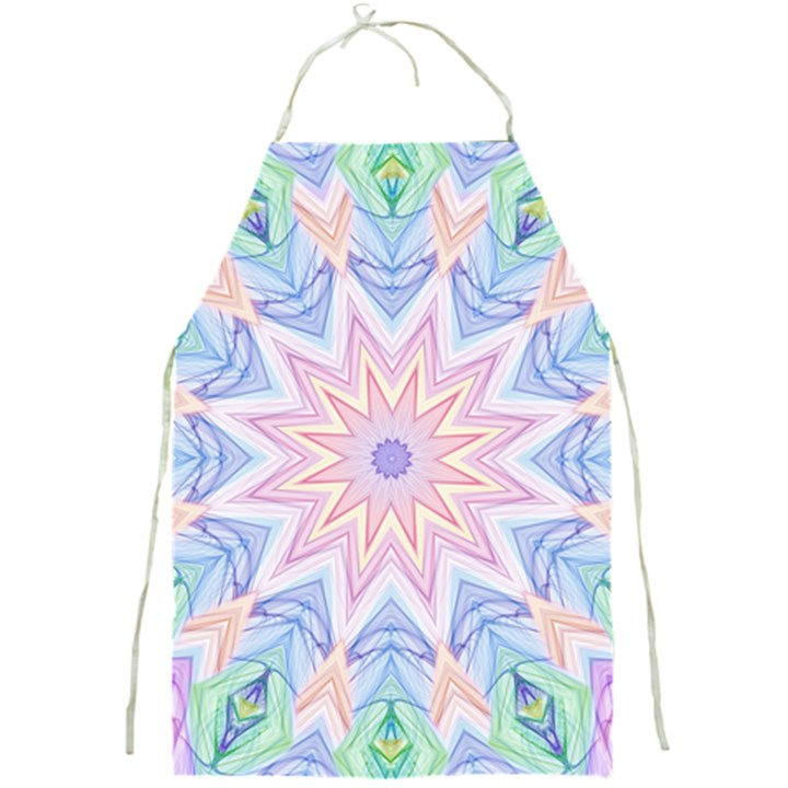 Soft Rainbow Star Mandala Apron