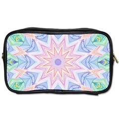 Soft Rainbow Star Mandala Travel Toiletry Bag (Two Sides)