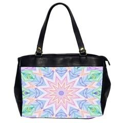 Soft Rainbow Star Mandala Oversize Office Handbag (Two Sides)