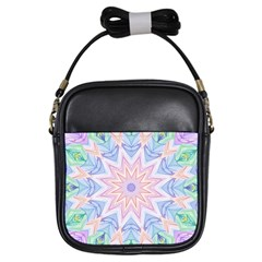 Soft Rainbow Star Mandala Girl s Sling Bag