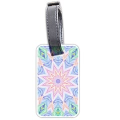 Soft Rainbow Star Mandala Luggage Tag (one Side)