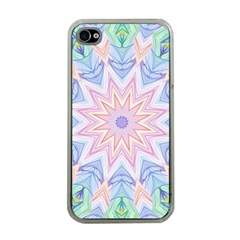 Soft Rainbow Star Mandala Apple Iphone 4 Case (clear)