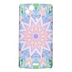 Soft Rainbow Star Mandala Sony Xperia Arc Hardshell Case