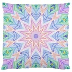 Soft Rainbow Star Mandala Large Cushion Case (Two Sided)  Back