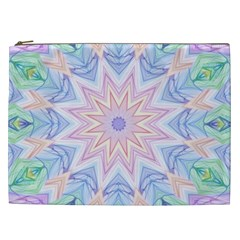 Soft Rainbow Star Mandala Cosmetic Bag (xxl)