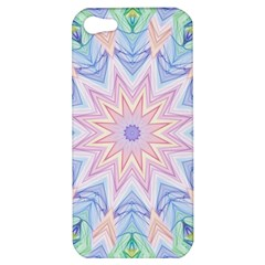 Soft Rainbow Star Mandala Apple Iphone 5 Hardshell Case