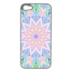 Soft Rainbow Star Mandala Apple Iphone 5 Case (silver)
